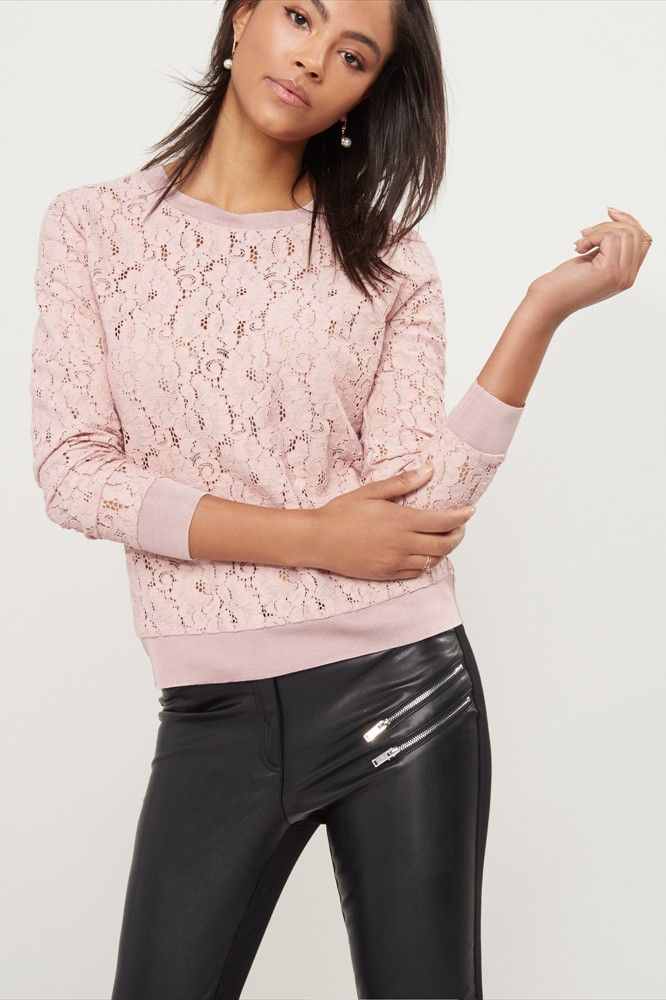 Pink Lace Sweater