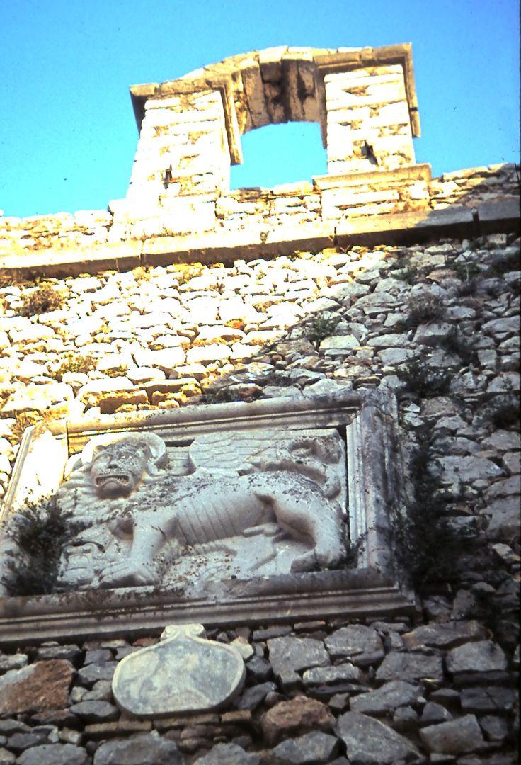 The entrance gate to the Crusader Castle of Palami at Nauplion (Naflion)