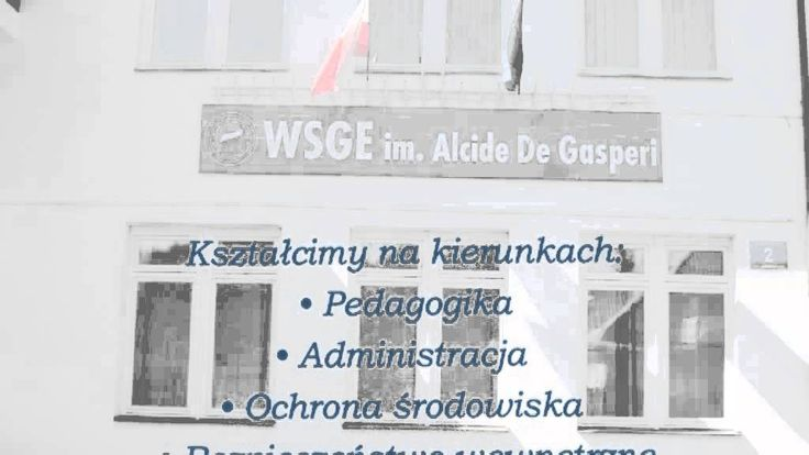 Zachęcamy do zapoznania się z pełną ofertą uczelni: http://study4u.eu/uczelnia/72-wyzsza-szkola-gospodarki-euroregionalnej-im-alcide-de-gasperi