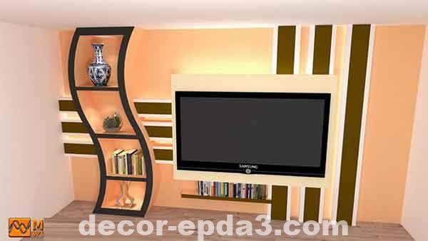 أحدث ديكور شاشات البلازما ديكور جبس بورد Decor Flat Screen Electronic Products