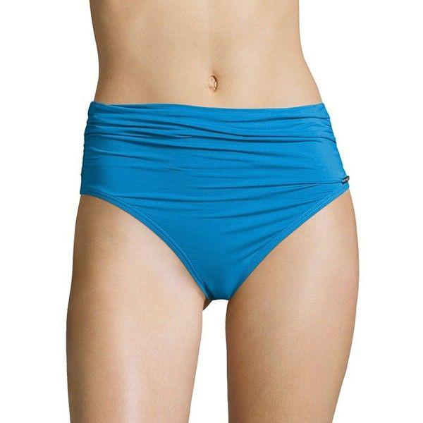 Vince Camuto High-Waist Bikini Bottom ($58) ❤ liked on Polyvore featuring swimwear, bikinis, bikini bottoms, misty blue, high-waisted bikinis, blue swimwear, bottom bikini, high-waisted swimwear and high waisted bikini