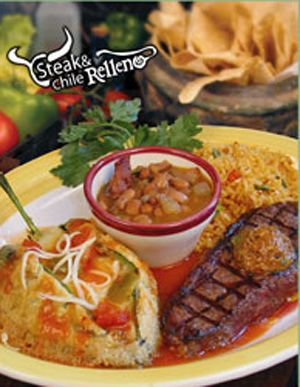 Steak and Chile Rellenos - at Fresco's in Burleson