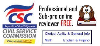 Civil Service Commission Online Reviewer
