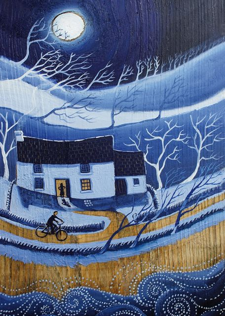 'Home Safe and Sound' By Painter Valeraine Leblond. Blank Art Cards By Green Pebble. www.greenpebble.co.uk