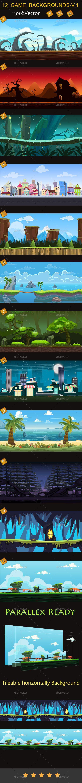 12 game backgrounds-v.1 - Backgrounds Game Assets