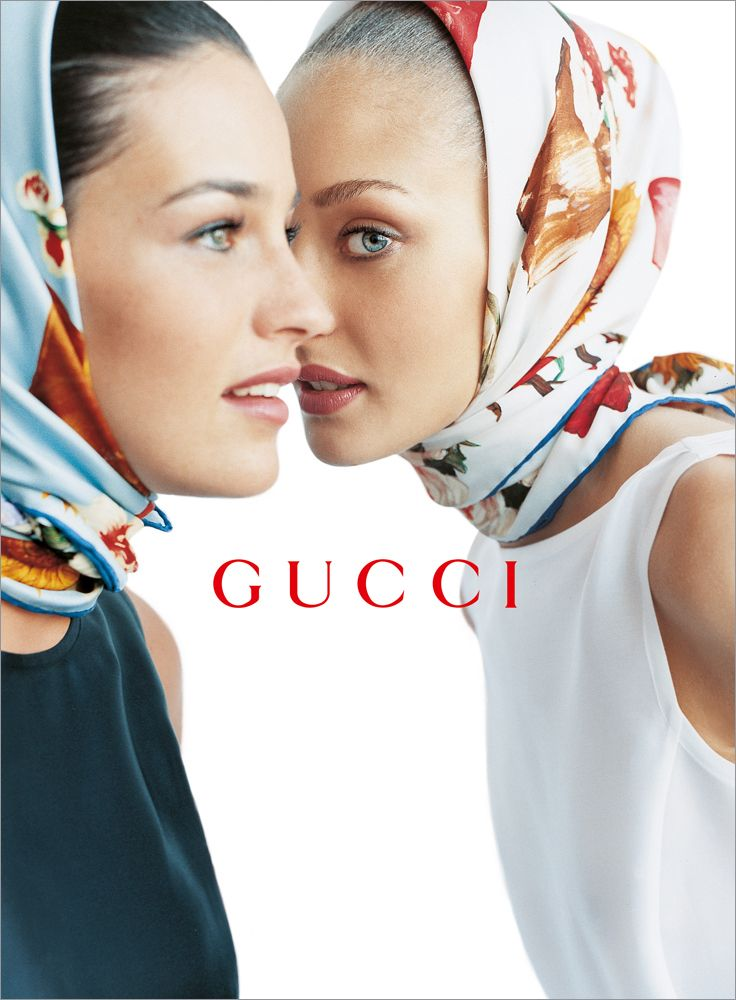 Shiraz Tal and Chrystèle Saint Louis Augustin by Mario Testino for Gucci, 1995 S/S - Spring Summer.