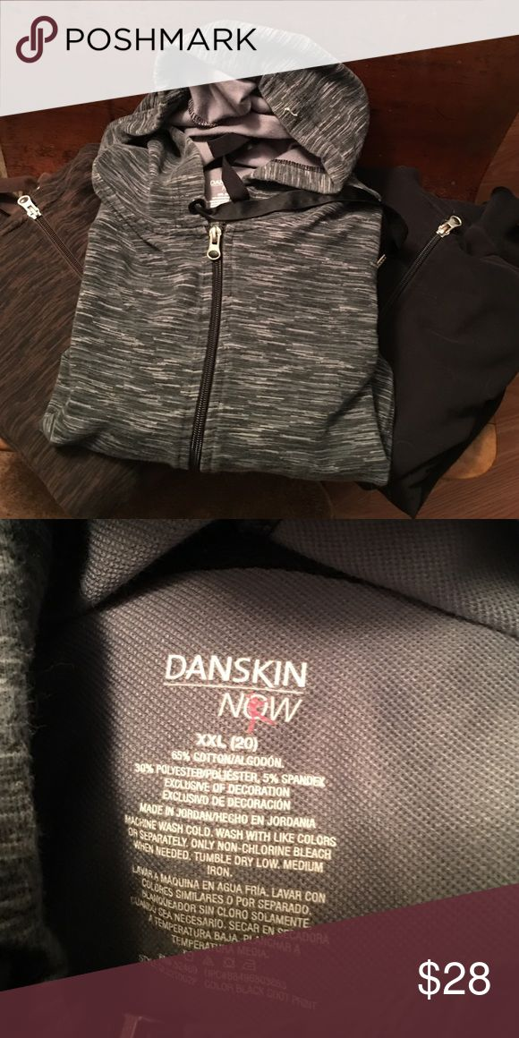 THREE PACK of woman's hoodies. Black, gray, and brown woman's hoodies. Great colors to match anything. Gently used condition. Danskin Now Jackets & Coats