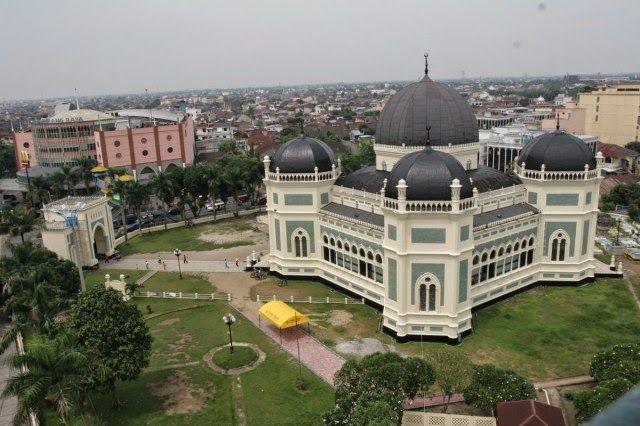 Masjid Raya Medan, Sumatra Utara, Indonesia