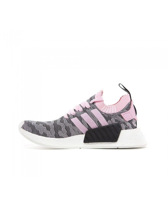 980451a2314b7 Adidas NMD R2 Primeknit Trainers In Wonder Pink Core Black