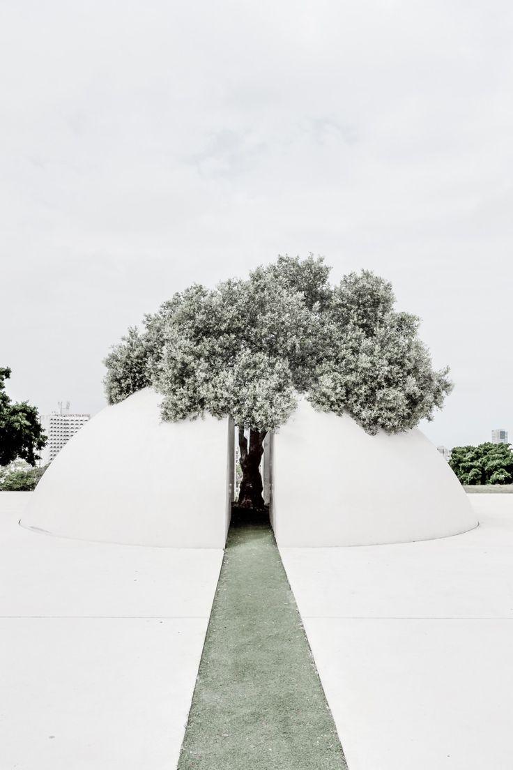 Kikar Levana (White Square),  Edith Wolfson Park, Tel Aviv, Israel by  Dani Karavan