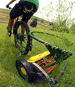The Cutting Edge: Bicycle Lawnmowing