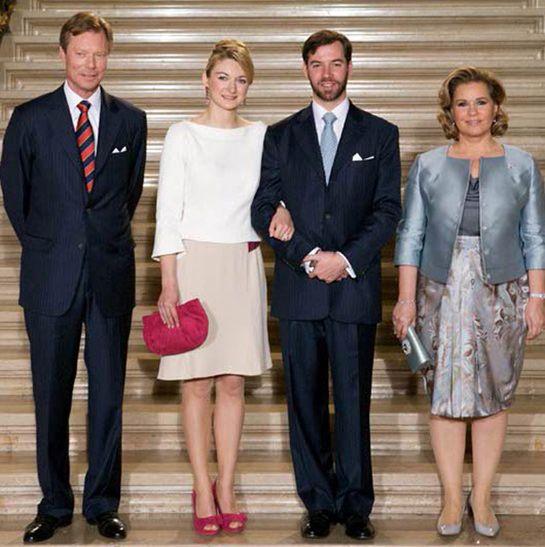 Grand Duke Henri, Stephanie de Lannoy, Prince Guillaume and Duchess Maria Teresa