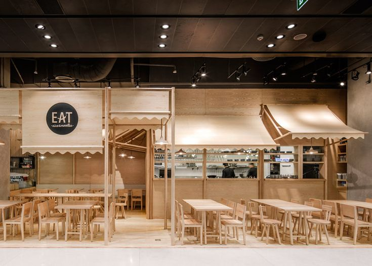 Onion's solid ash and plywood restaurant interior in Bangkok