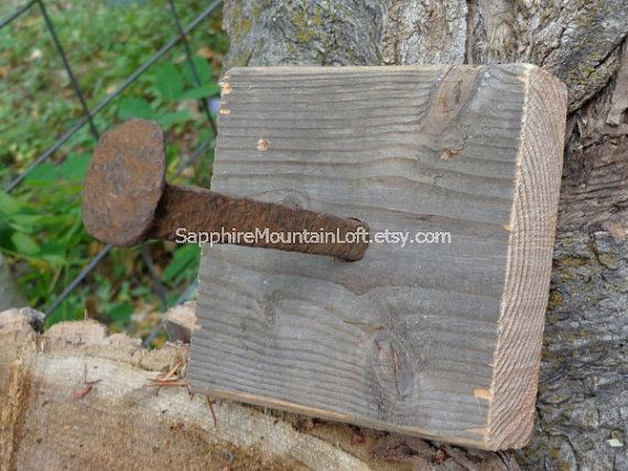 Rustic TOILET PAPER Holder Barn Wood and by SapphireMountainLoft