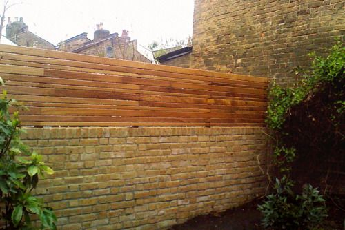 This garden in Stoke Newington was previously a train yard and I'm guessing the old wall was laid soon after that closed, a century ag...