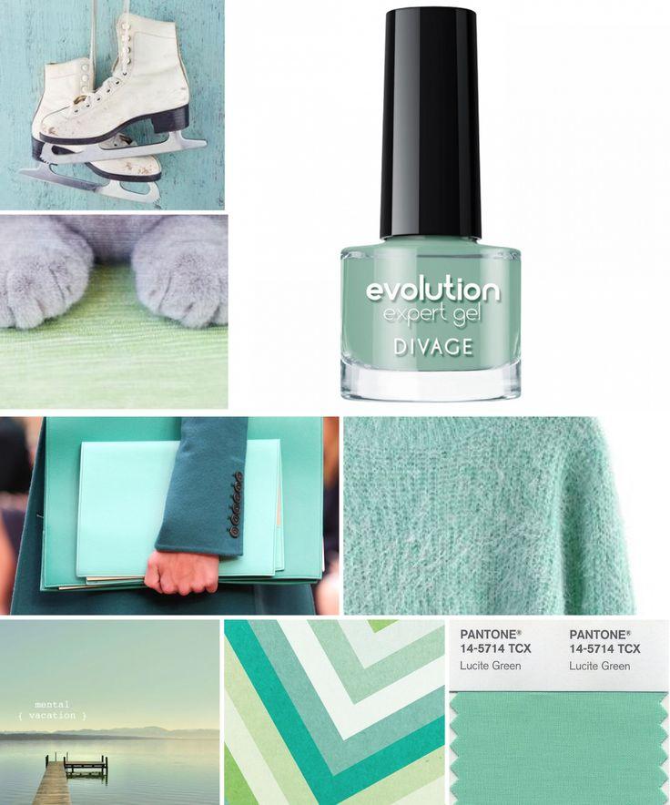 #coloroftheweek 14- 5714 Lucite Green è un color verde salvia delicato. Colorate le vostre unghiette di questa bellissima tonalità con lo smalto Evolution di Divage.