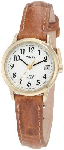Timex Women's T2J761 Easy Reader Brown Leather Strap Casual Watch Timex http://www.amazon.com/dp/B000UFUUW8/ref=cm_sw_r_pi_dp_.xTmub17X4B4S
