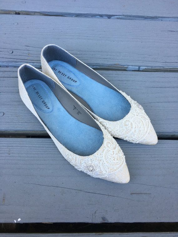 Französische Pleat Bridal wies Toe Ballet Flats von BeholdenBridal