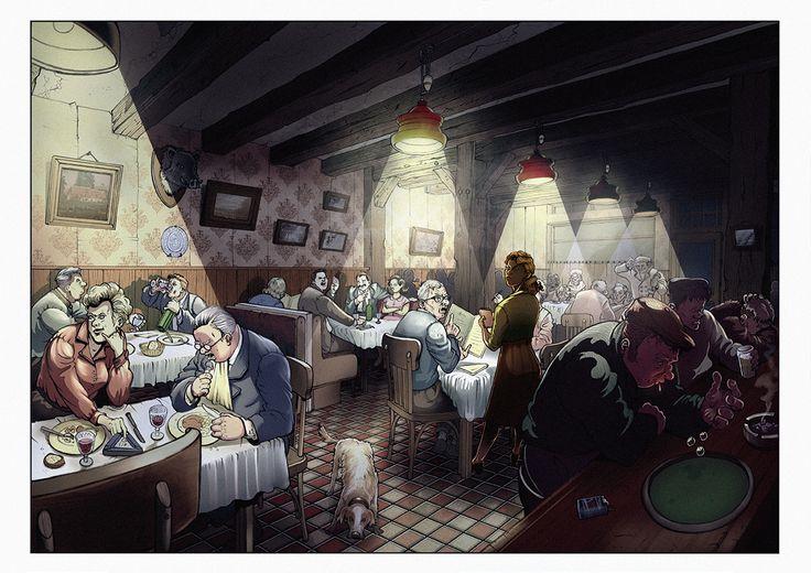 Victoire au restaurant.