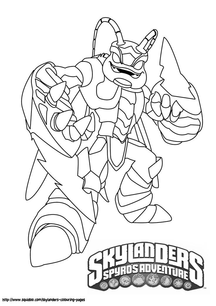 skylanders giants coloring pages ninjini skylander   9 best Skylanders stuff images on Pinterest   Coloring ...