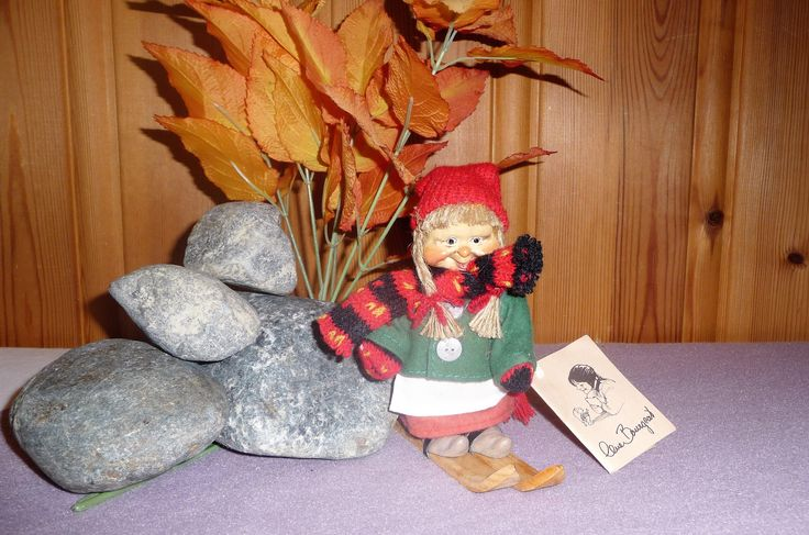 Vintage Norwegian Ceramic Doll Lene Bourgeat, Denmark Troll, Norway Elf, Scandinavian Nisse, Gnome Figurine, Folklore Folk Art by Grandchildattic on Etsy