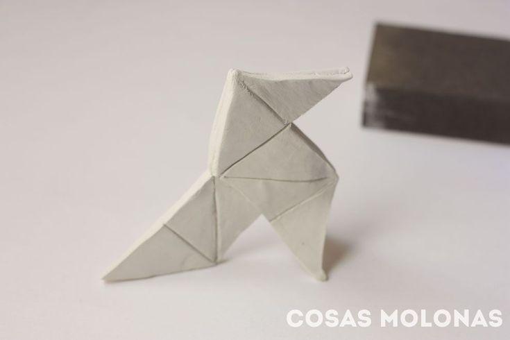DIY Pajarita Origami con pasta de modelar