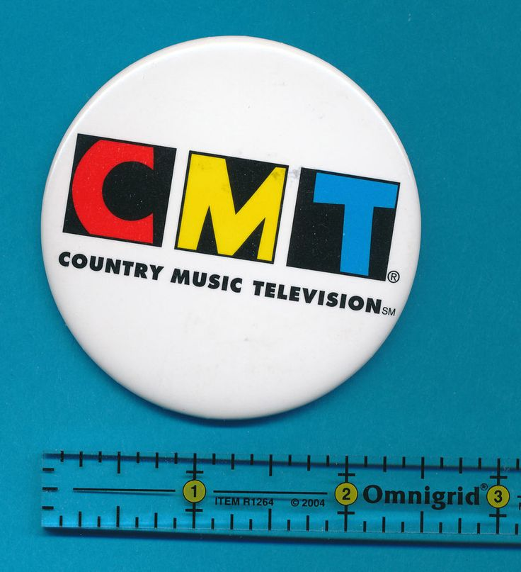 CMT Country Music Television Pinback Button Pinbacks