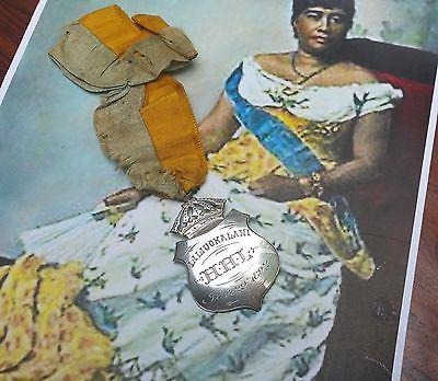 1892-IOLANI-PALACE-Queen-Liliuokalani-antique-vtg-hawaiian-hula-music-jewelry