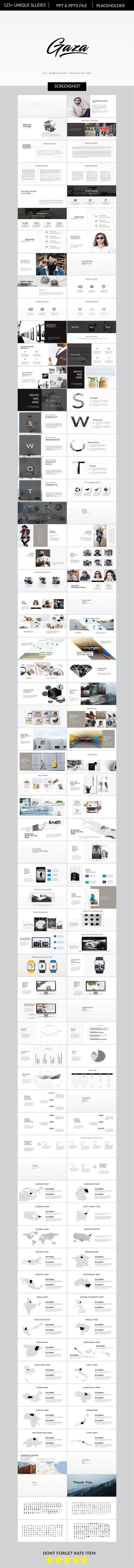 Gaza Multipurpose Business Powerpoint - PowerPoint Templates Presentation Templates