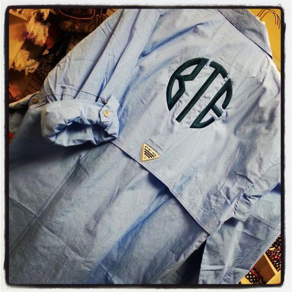 Columbia fishing shirt monogramed. I want one in white