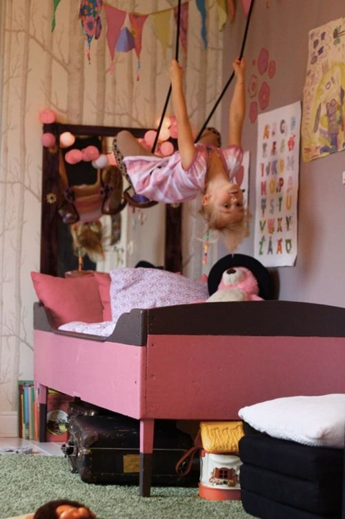 gymnastics rings over the kids beds gymnastics bedroom