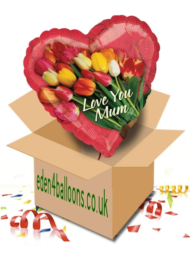Mothers Day - Balloons - Love You Mum - Balloon in a Box