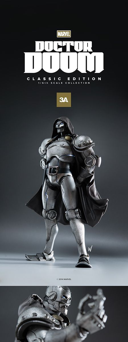 3A's Doctor Doom 1/6 Scale Figure - Classic, Stealth, and Ghost Editions — GeekTyrant
