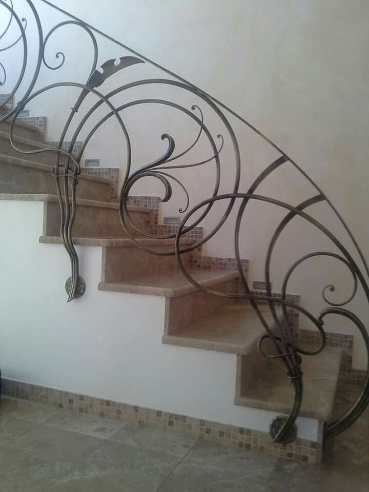 Curvaceous stair railing