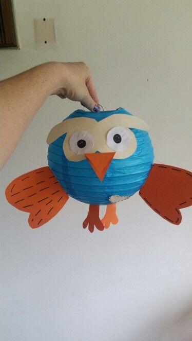 DIY giggle and hoot lantern Hoot!