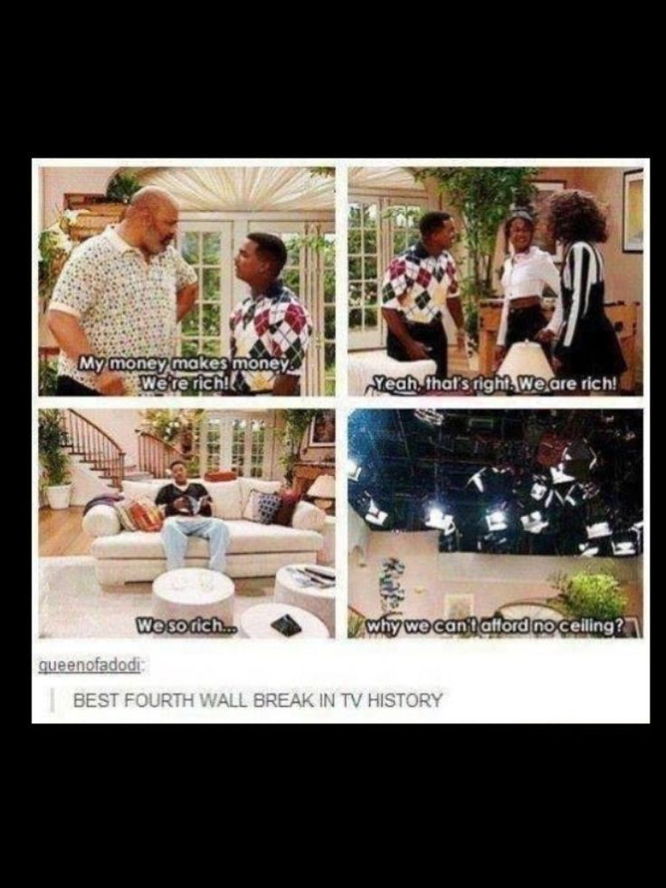 They definitely knew how to break the fourth wall on the Fresh Prince!