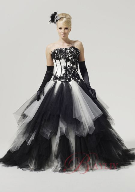 come to see this halloween wedding ceremony black and white halloween wedding dress - Halloween Wedding Gown