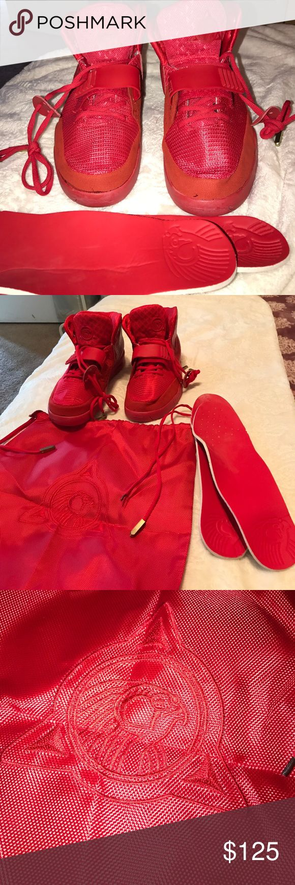 Nike air yeezy 2 red octobers kanye west python New Nike air yeezy 2 by Kanye west red octobers, never used, includes dust bag, not authentic shoes. Nike Shoes Athletic Shoes