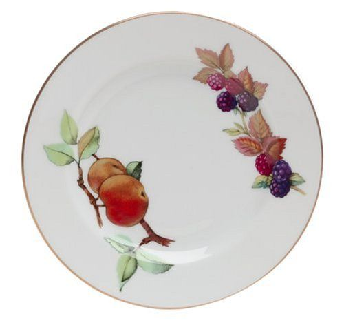 Royal Worcester Evesham Gold Porcelain 6-1/4-Inch Bread and Butter Plate by Royal Worcester. $6.49. Hand washing with mild detergent is recommended to protect the gold band.. 6- 1/4 inch. The Evesham bread and butter plate is an important component to the place setting and can be used at every meal for serving bread, rolls, canapes or hors d'oeuvres.. Because Evesham is made of durable fine porcelain, it is oven and freezer safe.. The Evesham pattern is highly colle...