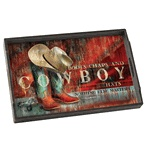 Hang On for the Ride Wood Tray -   Western Decor & Cowboy Gifts from Lone Star Home Decor