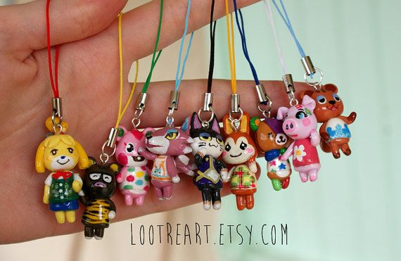 Get your favorite Animal Crossing villager as a charm attached to a matching phone/3ds strap ! It will be completely handmade on order, very quickly