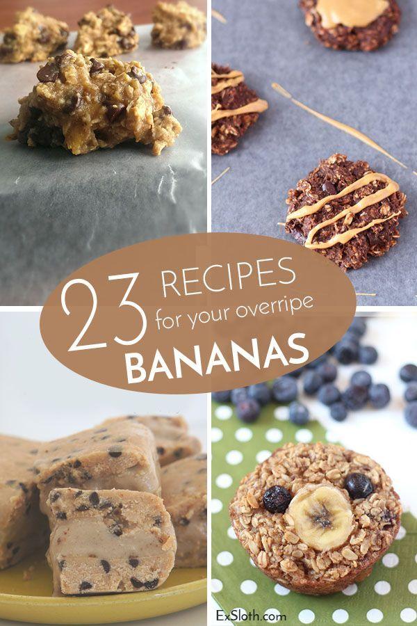 23 Recipes for your overripe Bananas via @ExSloth | ExSloth.com What do you do with extra bananas?