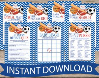 BASKETBALL Baby Shower Word Search Game Card   Instant Download Cute All  Star Sports DYI Printable Files Fun Baby Boy Sport Theme B104