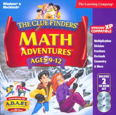 Cluefinders Math Adventures Ages 9-12 Deluxe