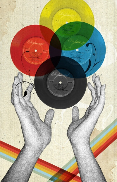 Pôster de discos de vinil
