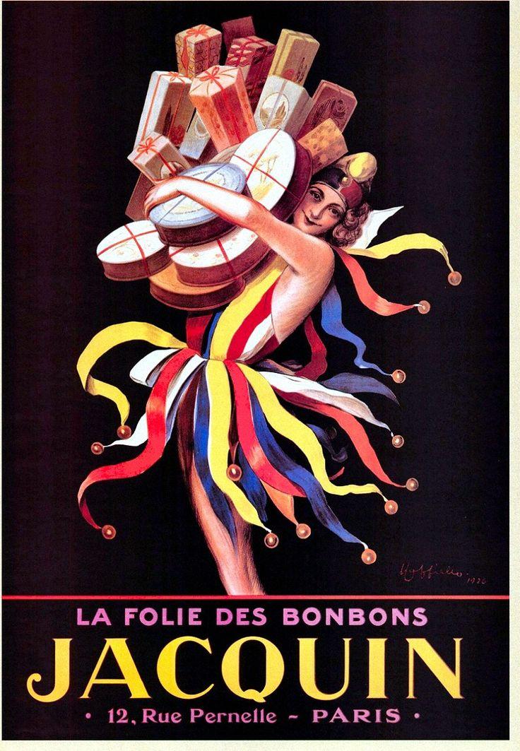 ¤ Leonetto Cappiello - La folie des bonbons Jacquin,12 rue Pernette, Paris
