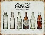 Tin Sign: Coca Cola Bottle Evolution, 33x41cm.