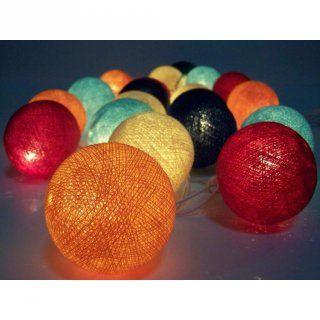 Guirnalda de luces, bolas de algodón
