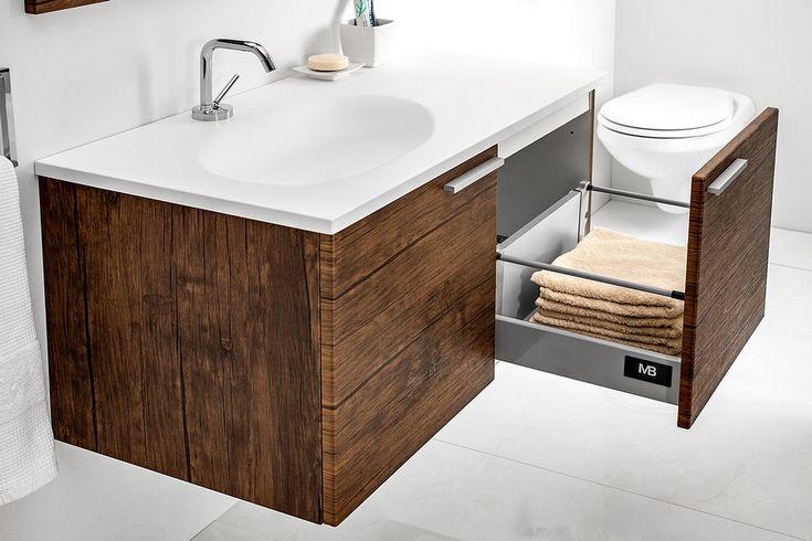 Modular KTS bathroom furniture collection with wood pattern / łazienka umywalka #bathroom #furniture #washbasin #wood #umywalka