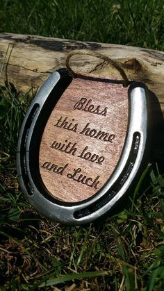 This engraved horseshoe is the perfect housewarming gift. Come visit our store for more colors and styles.
